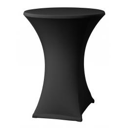 Statafel met rok – Zwart